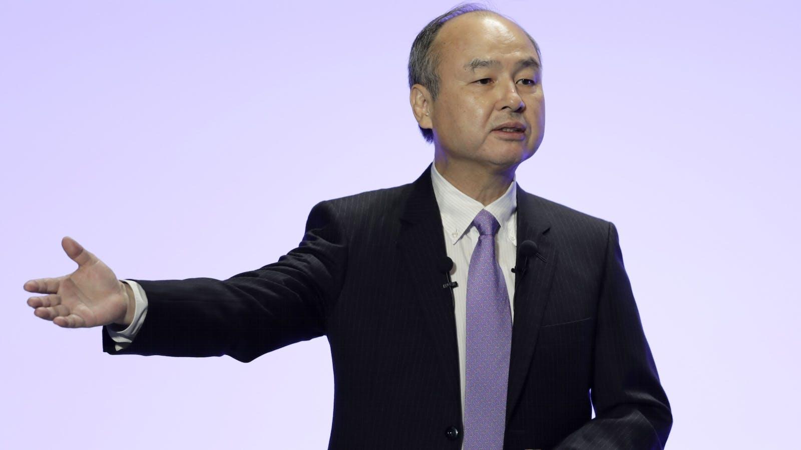 SoftBank CEO Masayoshi Son. Photo by Bloomberg.