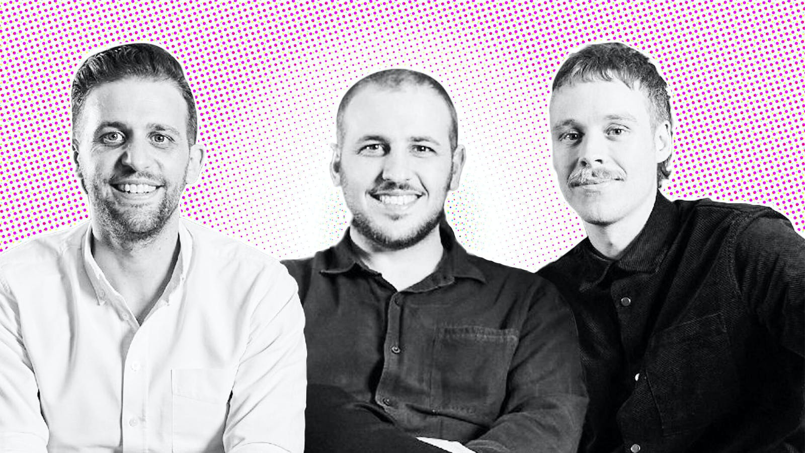 Left to right: Linktree co-founders Anthony Zaccaria, Alex Zaccaria, Nicky Humphreys. Photo: Linktree.
