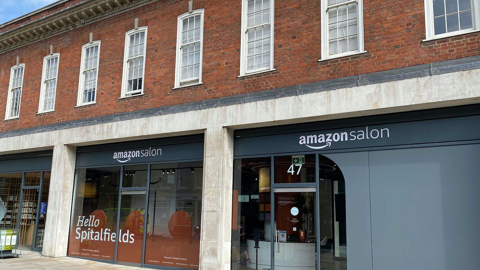 Amazon's hair salon in London. Photo by Mark Di Stefano