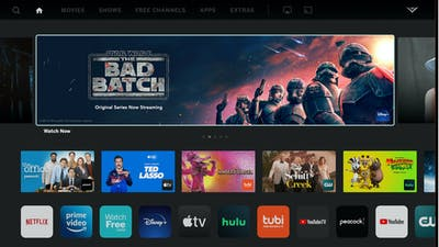 Apps on a Vizio television set, including for YouTube and YouTube TV. Photo from Vizio
