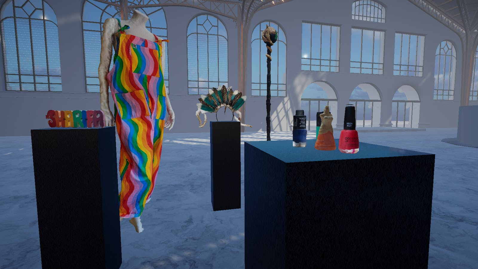 An image from the VR-based LGBTQ+ museum.