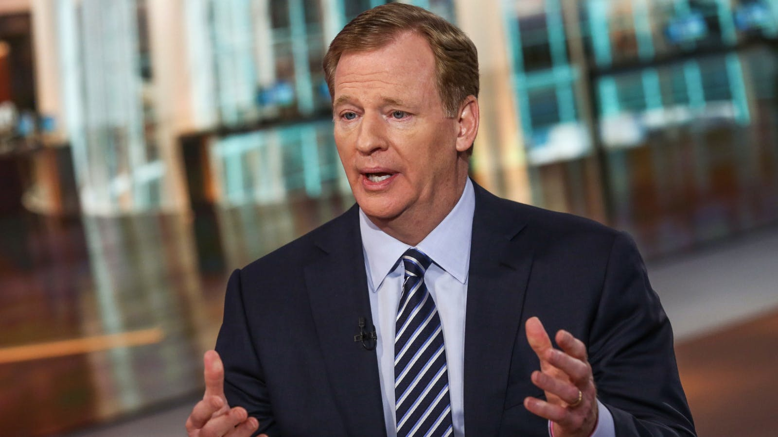 NFL commissioner Roger Goodell. Photo by Bloomberg