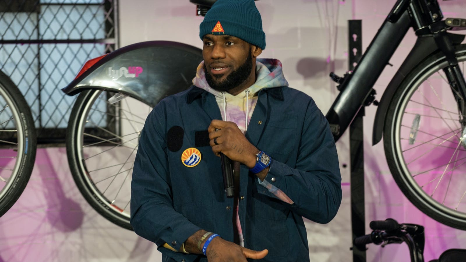 LeBron James. Photo by Bloomberg.