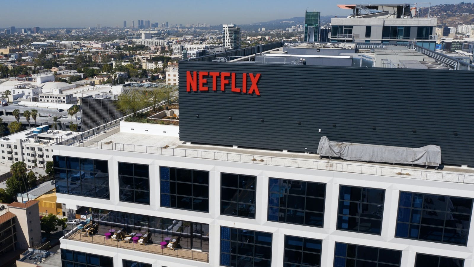 Netflix's Los Angeles office building. Photo by Bloomberg