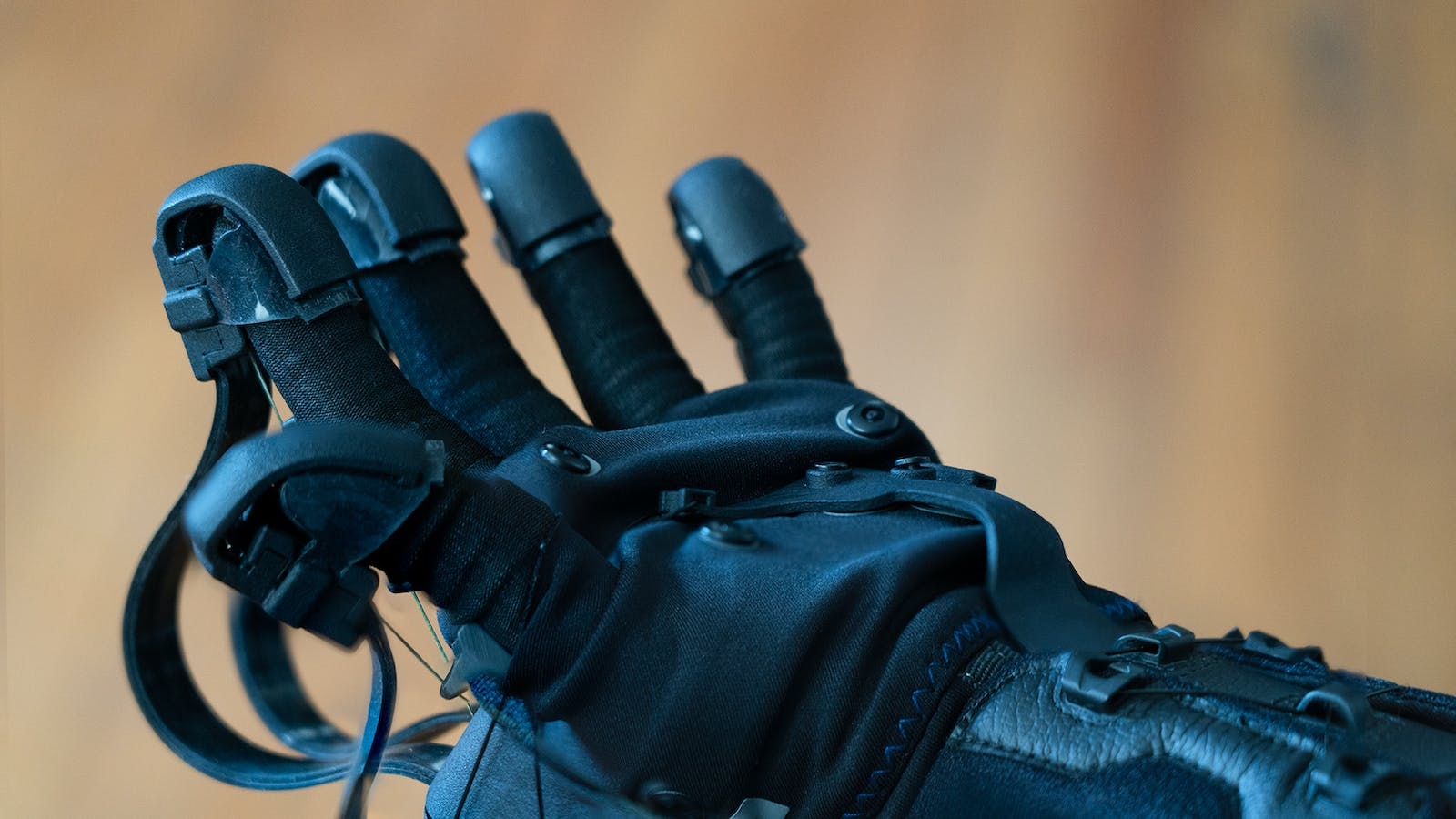 A HaptX virtual reality glove designed to emulate realistic touch. Photo by HaptX