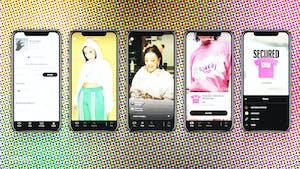 Images of live-shopping app NTWRK. Photo: NTWRK