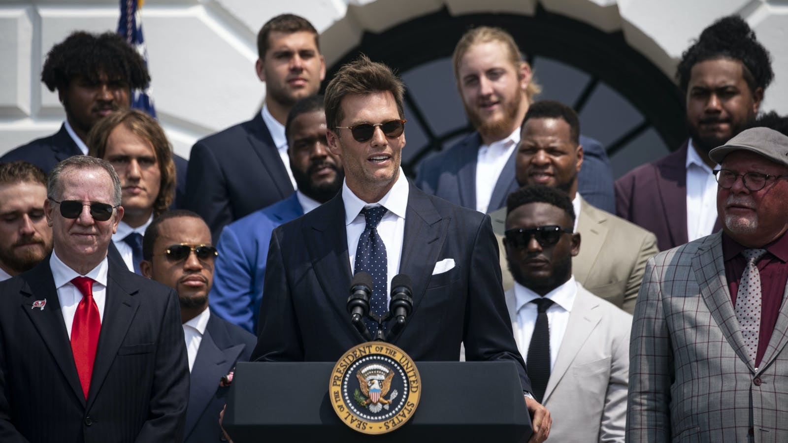 Autograph co-founder Tom Brady at the White House on Tuesday.