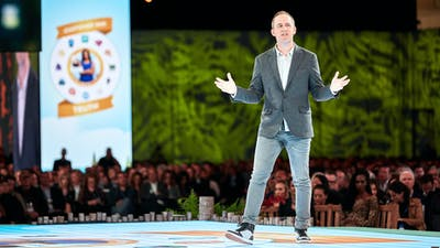 Salesforce president and chief operating officer Bret Taylor at a Salesforce conference in 2019. Photo provided by Salesforce