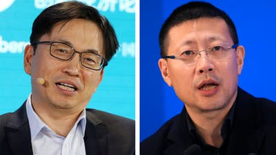 Zhang Lei (left) and Neil Shen. Photos by Bloomberg; AP