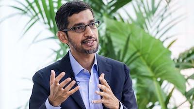 Alphabet CEO Sundar Pichai. Photo by Bloomberg.