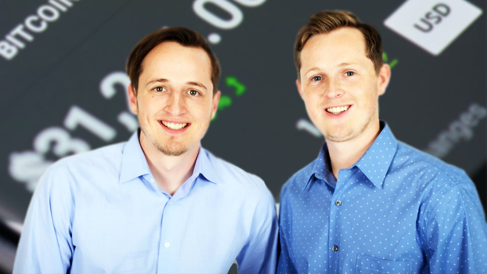 TaxBit co-founders Justin Woodward (left) and Austin Woodward (right). Photo: TaxBit, Shutterstock.
