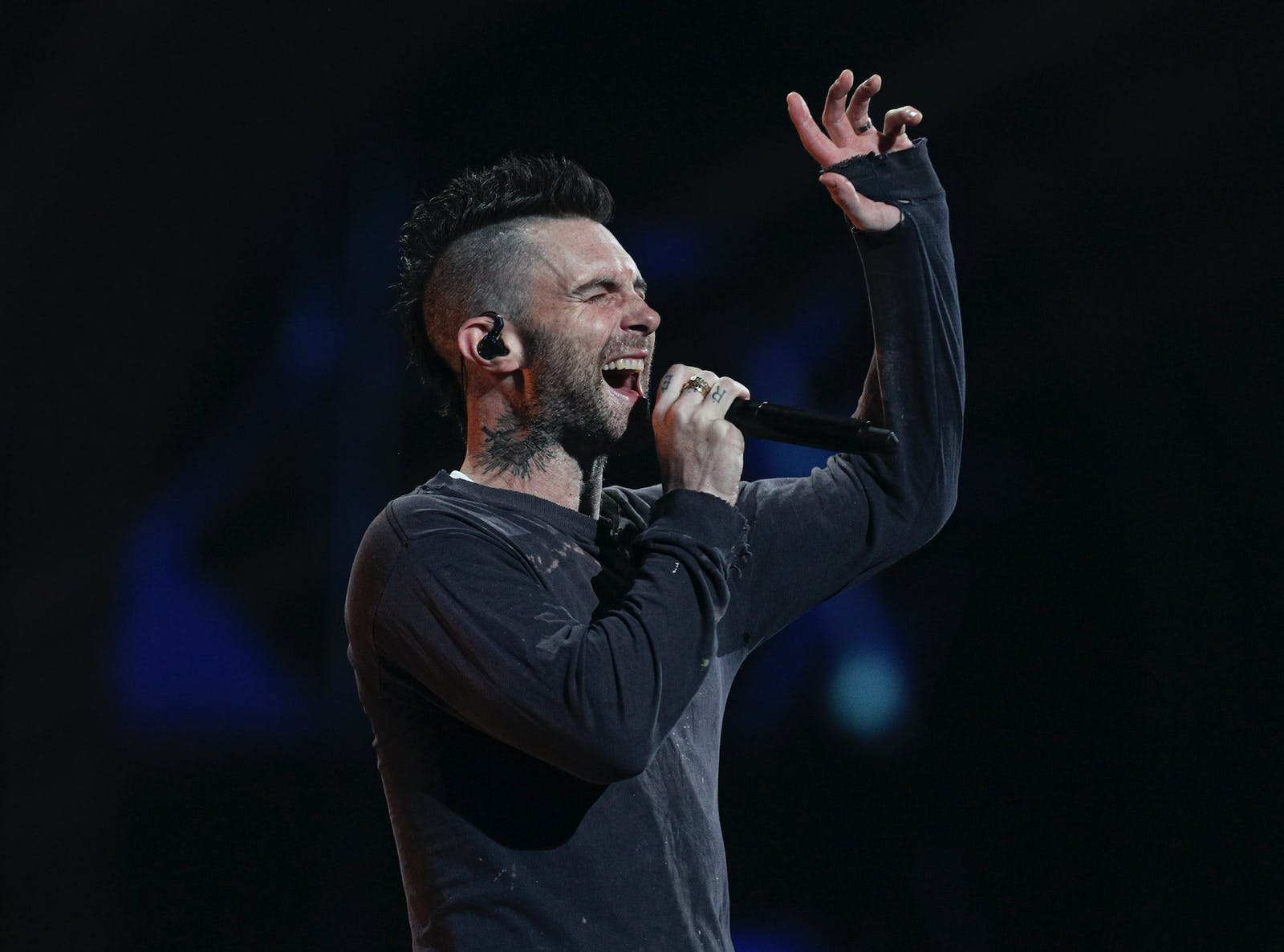 Maroon 5 performs on Feb. 27, 2020. Photo: AP