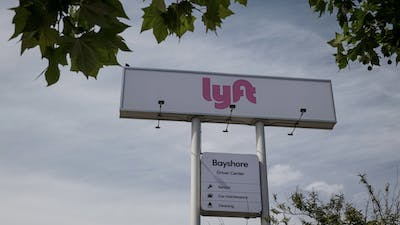 A Lyft drivers hub in San Francisco. Photo by Bloomberg