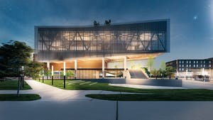 A rendering of the Propel Center, a tech-focused learning hub Apple is funding in Atlanta. Image provided by Apple.