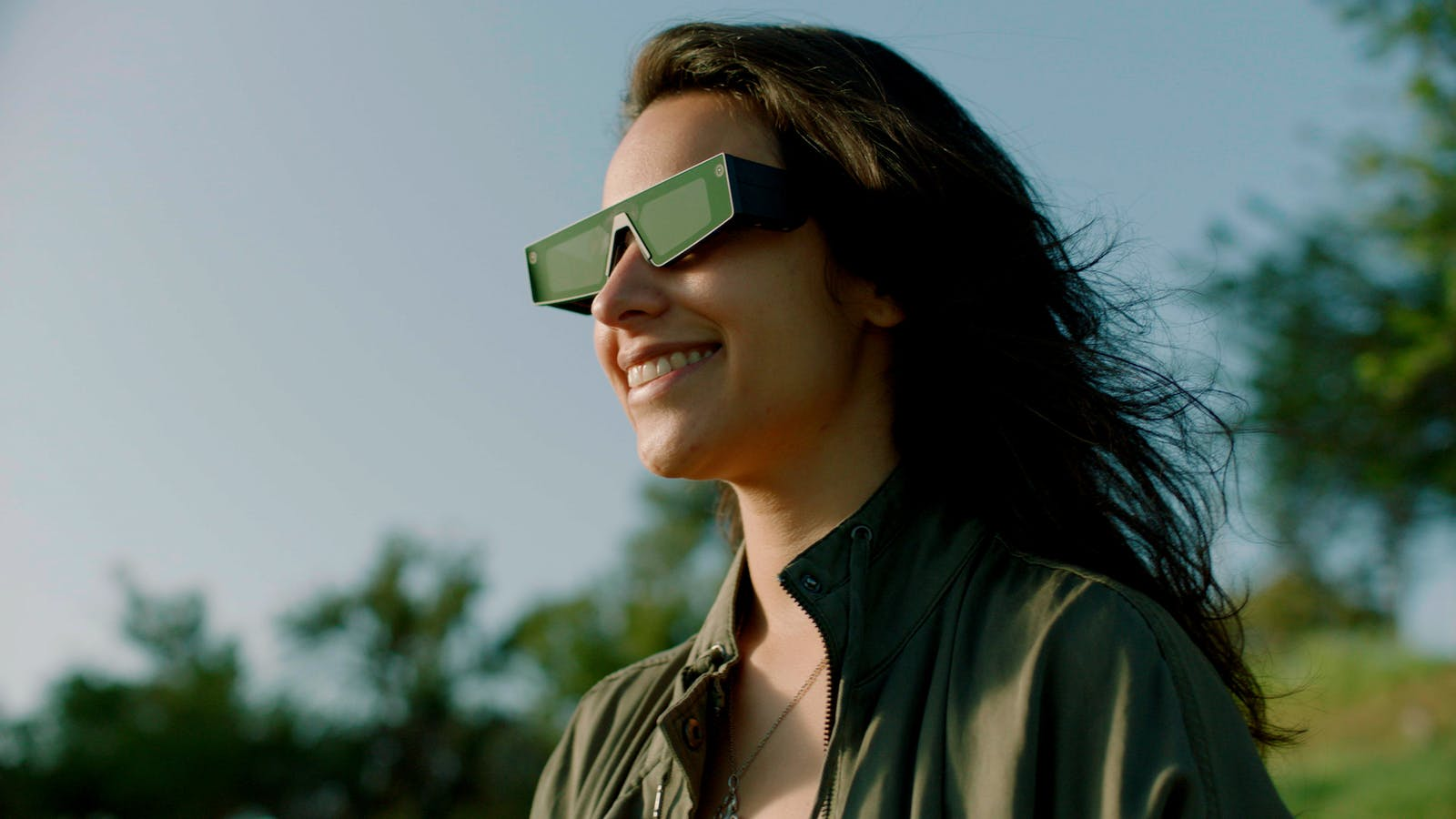 Kat Harris, a developer, wearing Snap's AR Spectacles. Photo by Snap