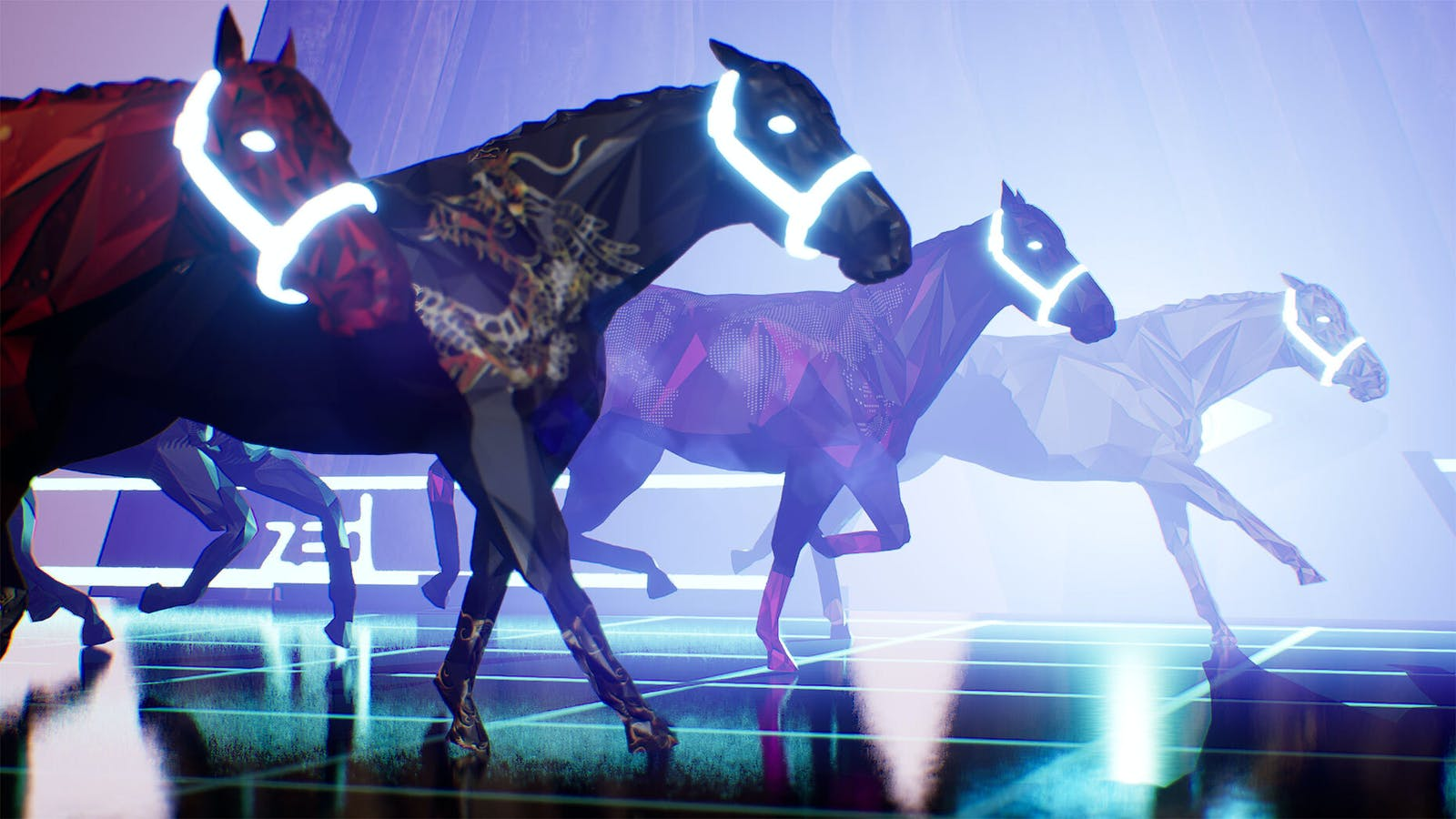 An image from ZED RUN, an online game that allows players to race, breed and sell NFT horses. Photo: Virtually Human Studio
