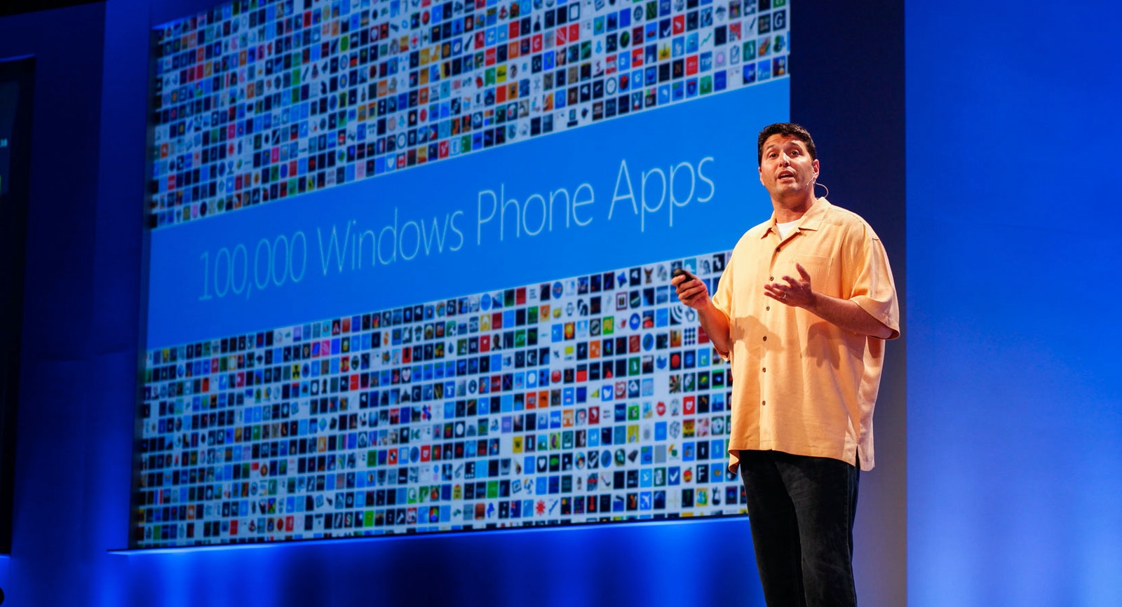Terry Myerson, who oversees Microsoft's Windows Phone software, in 2012. Credit: Microsoft