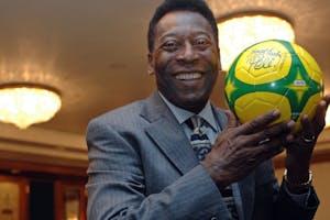 Pelé in 2005. Photo: Bloomberg