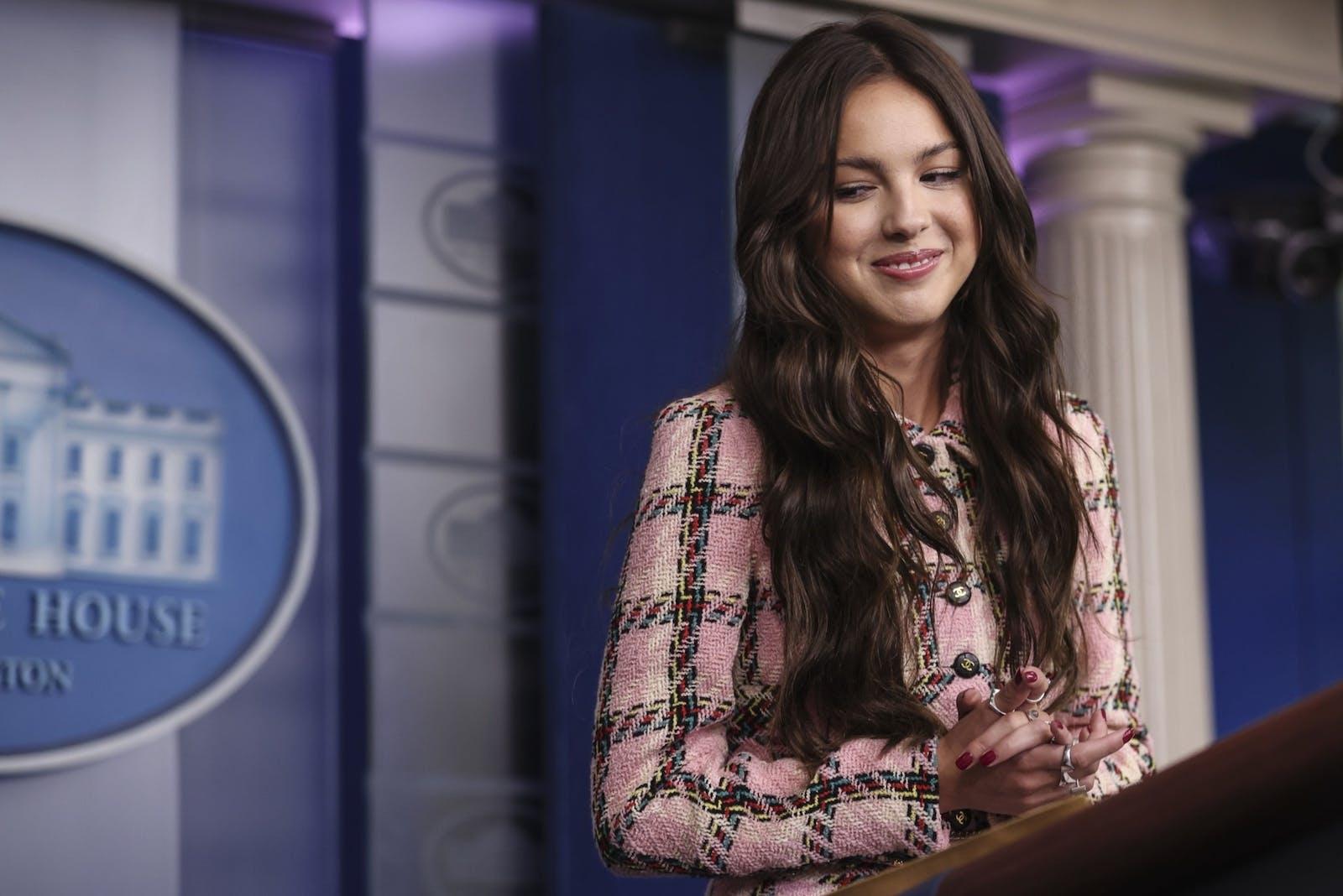 TikTok star Olivia Rodrigo at the White House. Photo: Bloomberg