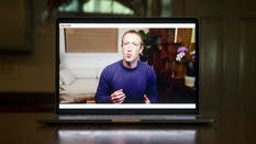 Facebook CEO Mark Zuckerberg speaks during a virtual developer conference in June. Photo by Bloomberg