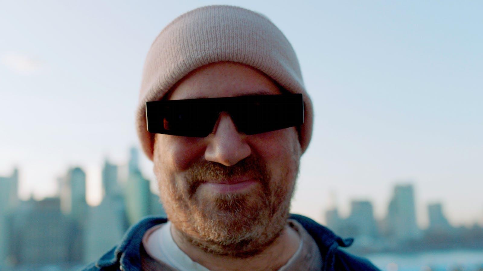 Zach Lieberman, a developer, wearing Snap's AR Spectacles. Photo by Snap