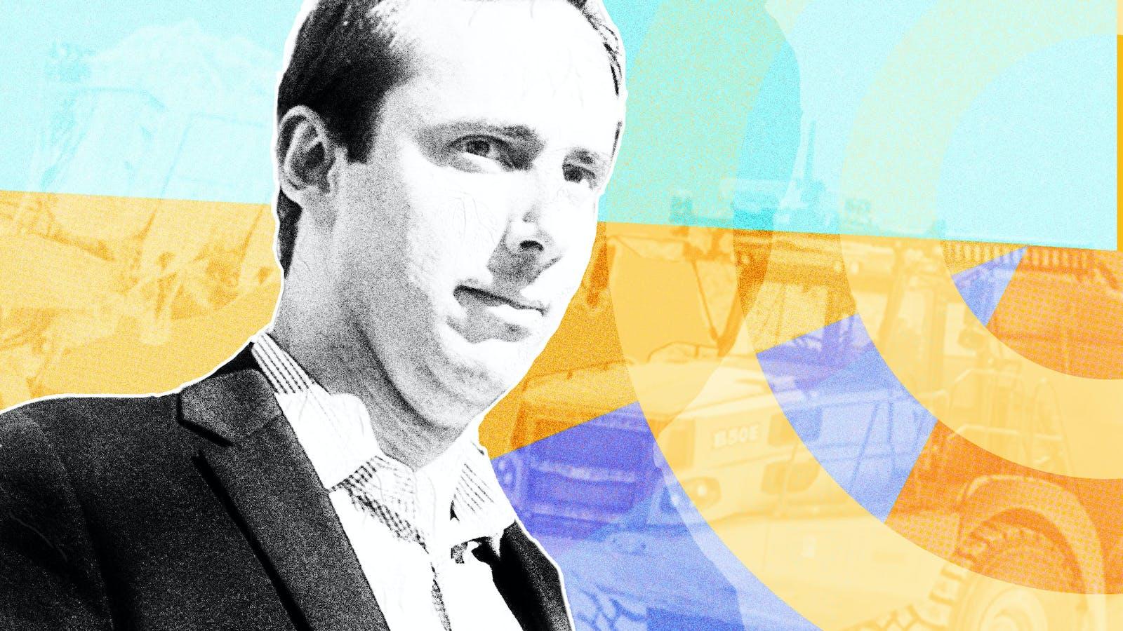Anthony Levandowski. Photos by Bloomberg, Pronto.ai (truck). Art by Mike Sullivan.