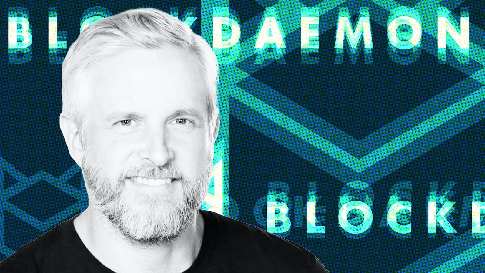 Konstantin Richter, CEO and Founder of Blockdaemon. Photo courtesy of Blockdaemon. Art by Mike Sullivan.