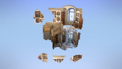 Sweden's Hallwyl Museum, digitized as a 3D puzzle made for VR. Credit: Realities.io