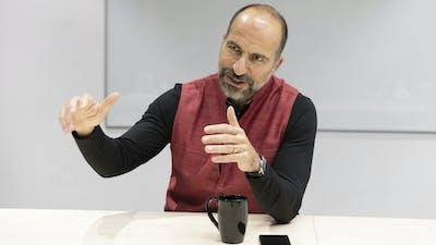 Uber CEO Dara Khosrowshahi. Photo by Bloomberg.