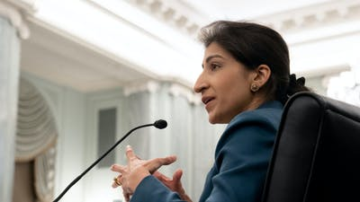 FTC Chair Lina Khan. Photo by Bloomberg