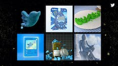 Non-fungible tokens from a collection released by Twitter in June. Photo: Twitter