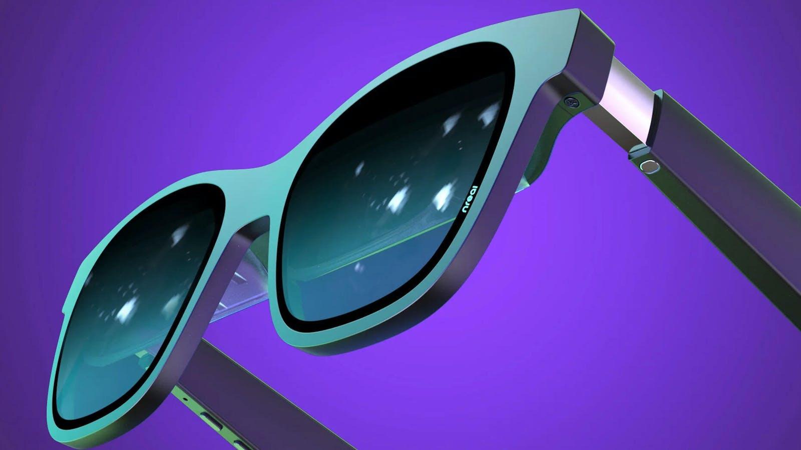 A close-up look at Nreal's new Air glasses. Credit: Nreal
