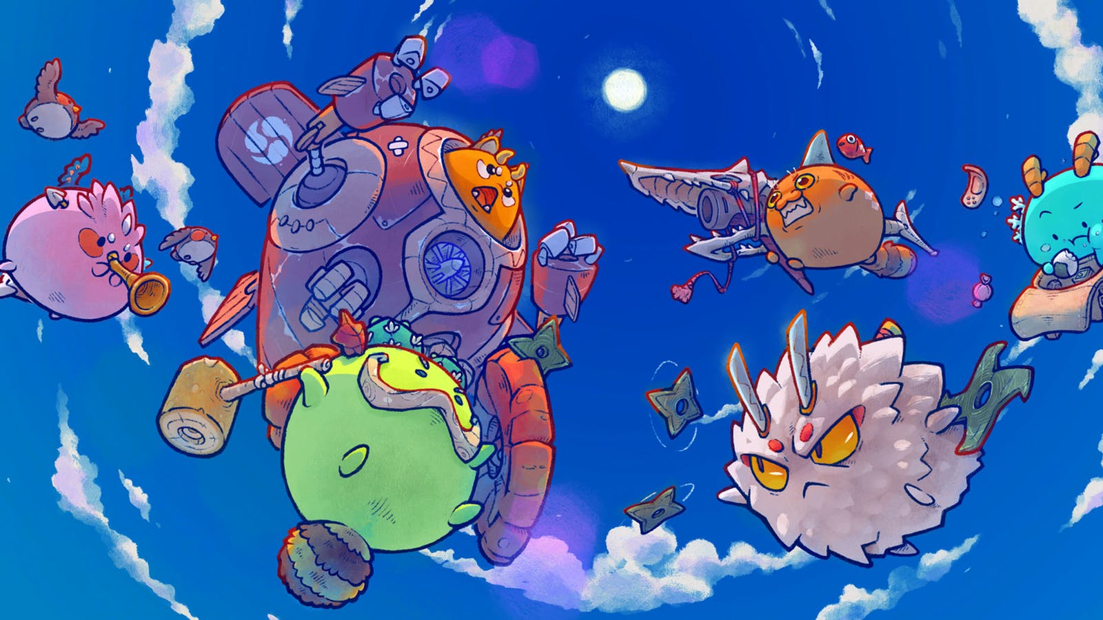 Art from the Axie Infinity NFT game. Photo: Axie Infinity