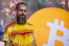 ack Dorsey, CEO of Twitter and Square, speaks during the Bitcoin 2021 conference in Miami in June. Photo: Bloomberg