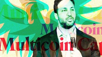 Kyle Samani, Multicoin Capital co-founder and managing partner. Screenshot via YouTube. Art by Mike Sullivan.