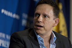 Founders Fund partner Peter Thiel. Photo: Bloomberg