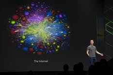 Facebook CEO Mark Zuckerberg at an Oculus Connect event in 2017. Photo by Bloomberg.