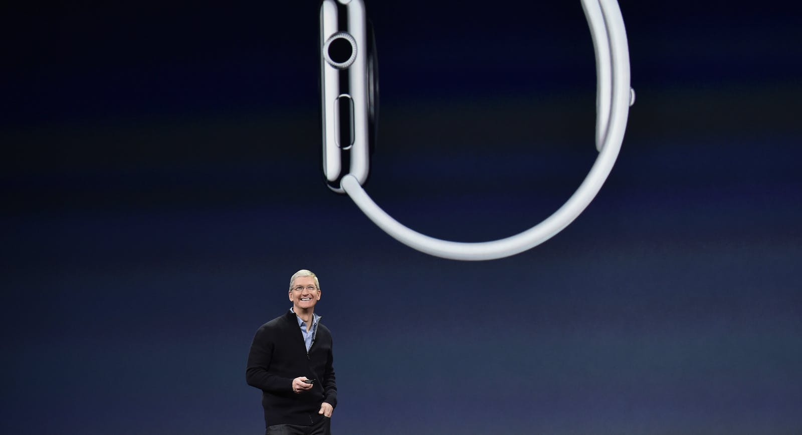 Apple CEO Tim Cook on Monday. Photo by Bloomberg.