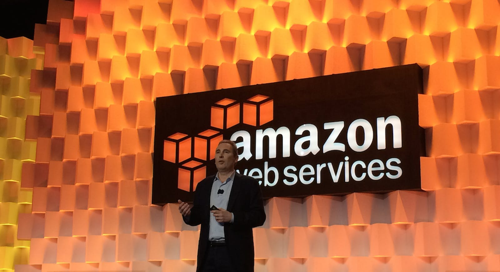 Andy Jassy, chief of Amazon Web Services. Photo by Steve Nellis.