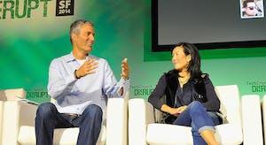 At left, James Slavet of Greylock Partners. Photo by TechCrunch.