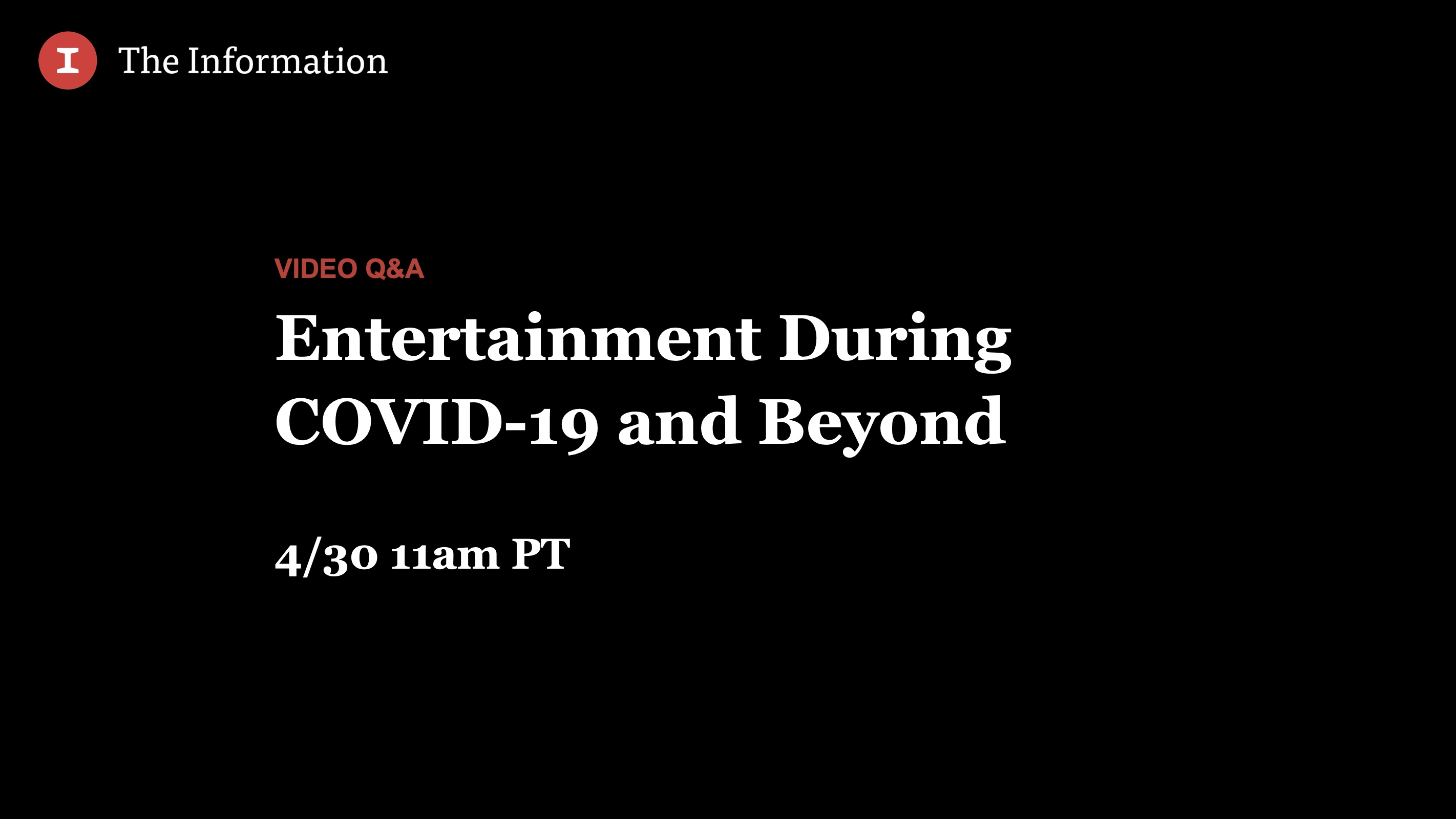 Entertainment During COVID-19 and Beyond