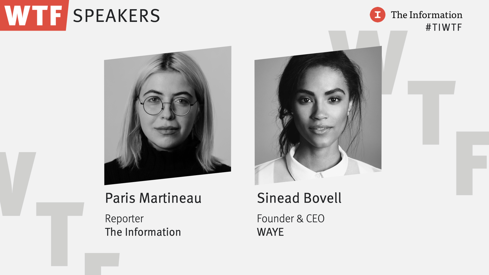 WTF 2021 - Sinead Bovell, Founder & CEO, WAYE in conversation with Paris Martineau, Reporter, The Information